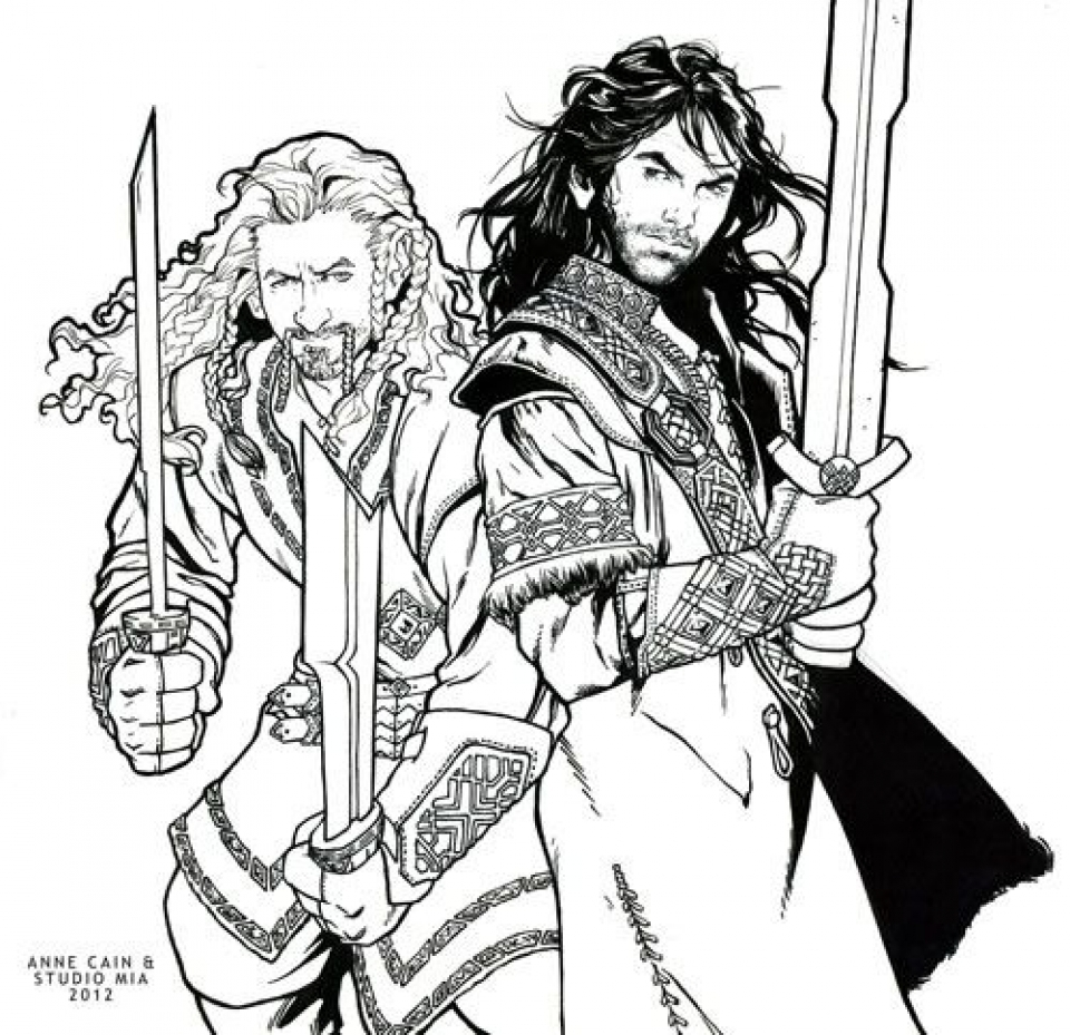 Hobbit coloring #1, Download drawings