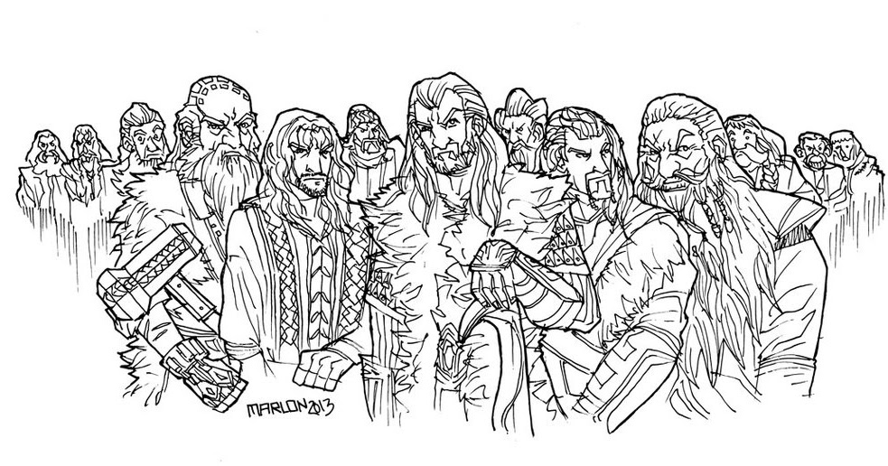 Hobbit coloring #13, Download drawings