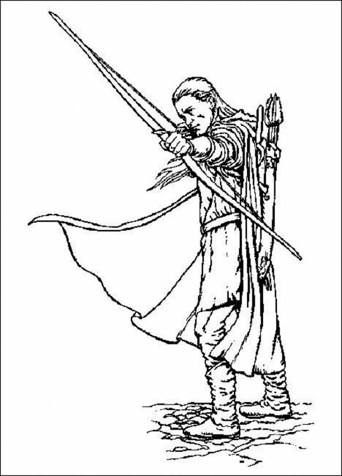 Hobbit coloring #9, Download drawings