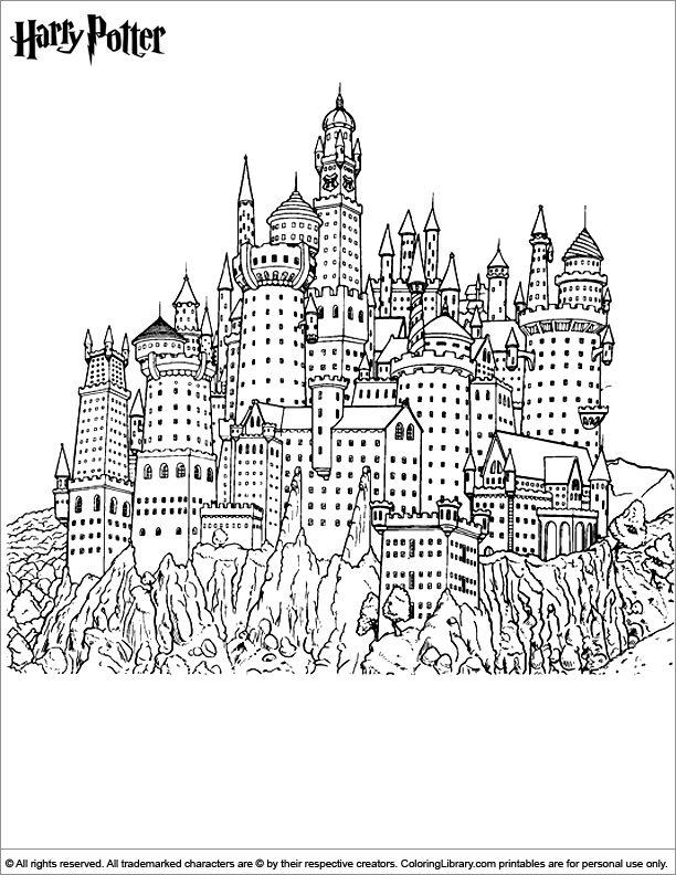 Hogwarts Castle coloring #17, Download drawings