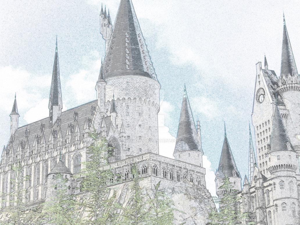 Hogwarts Castle coloring #4, Download drawings