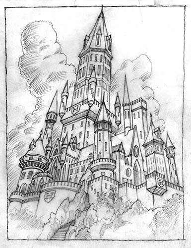 Hogwarts Castle coloring #8, Download drawings