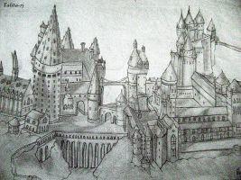 Hogwarts Castle coloring #2, Download drawings