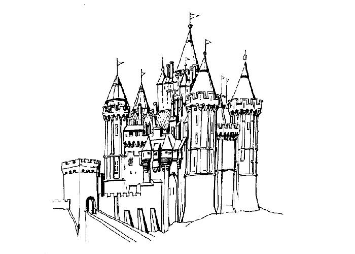 Hogwarts Castle coloring #18, Download drawings