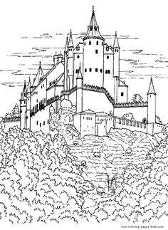 Hogwarts Castle coloring #13, Download drawings