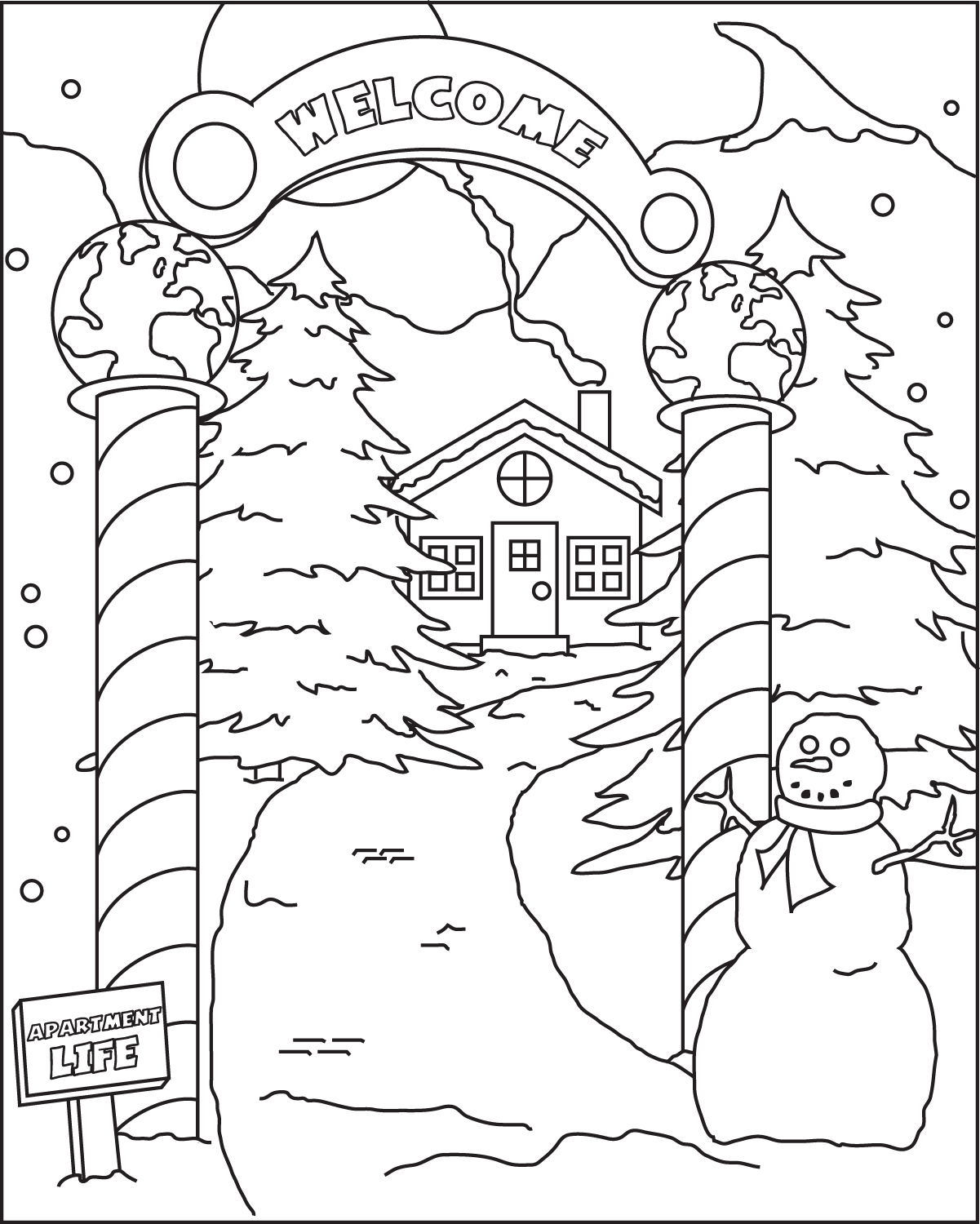 Holiday coloring #8, Download drawings