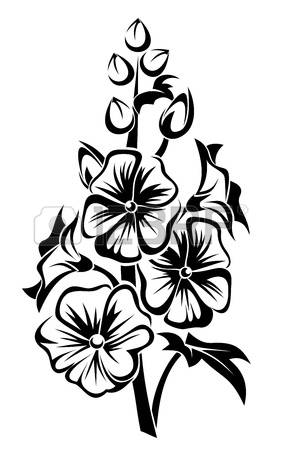Hollyhocks clipart #13, Download drawings