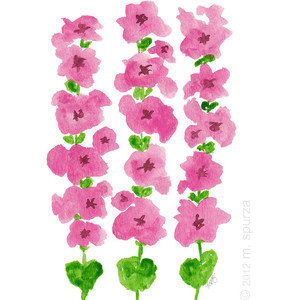 Hollyhocks clipart #7, Download drawings