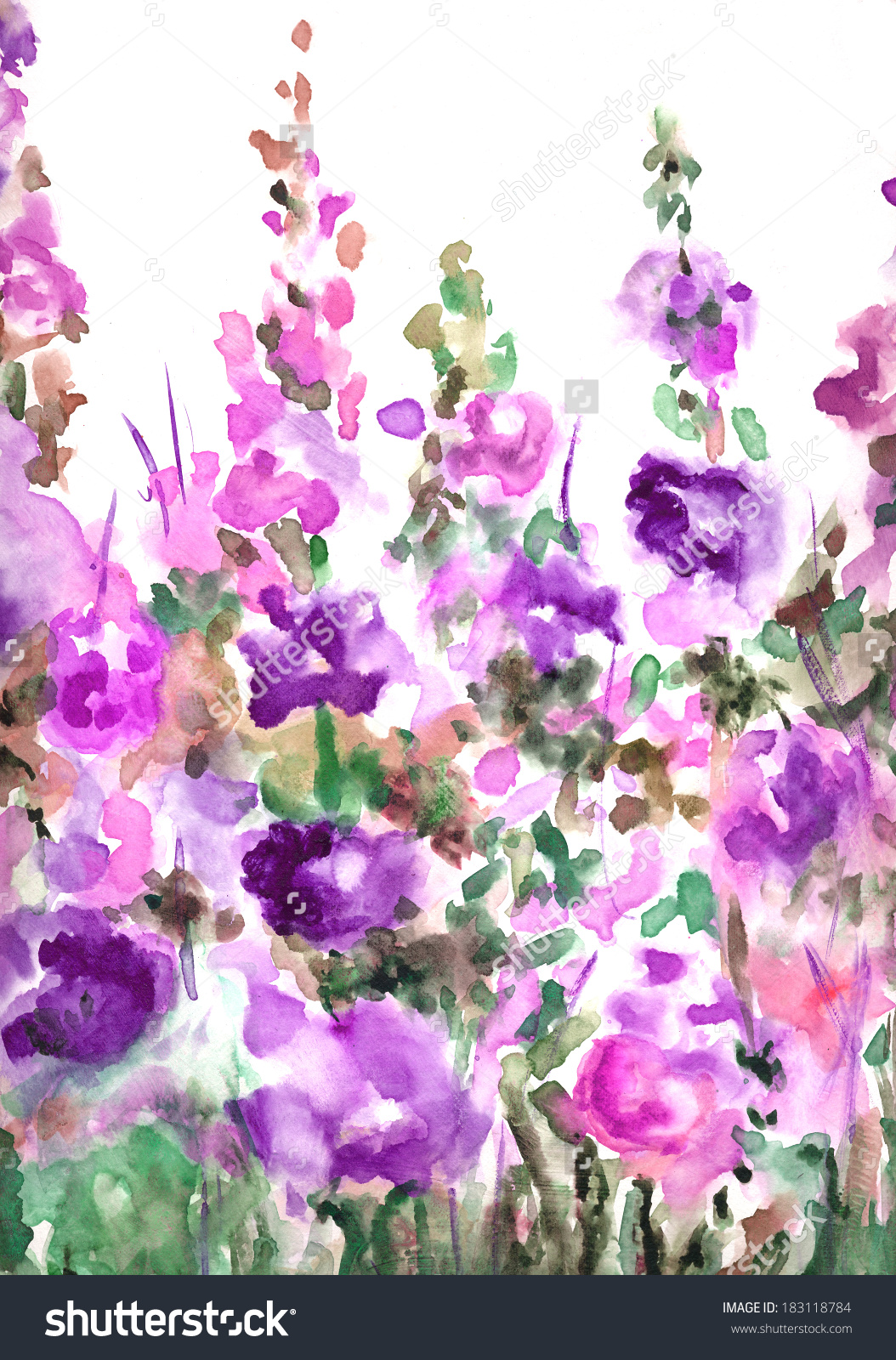 Hollyhocks clipart #3, Download drawings