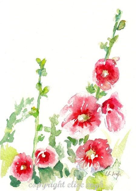 Hollyhocks clipart #18, Download drawings