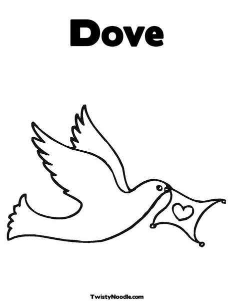 Holy Dove coloring #8, Download drawings