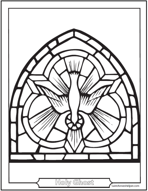 Holy Dove coloring #6, Download drawings