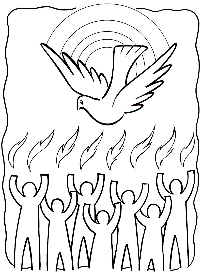 Holy Dove coloring #3, Download drawings