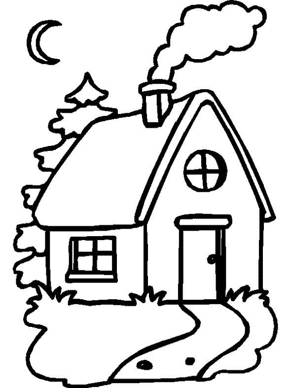 Homes coloring #16, Download drawings