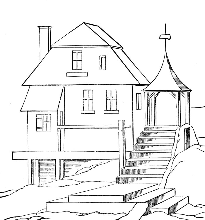 Homes coloring #13, Download drawings