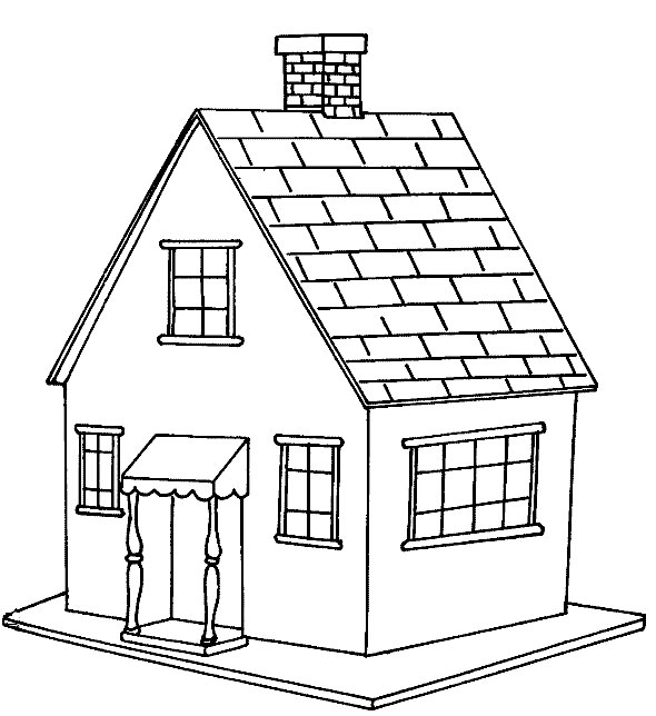 Homes coloring #14, Download drawings