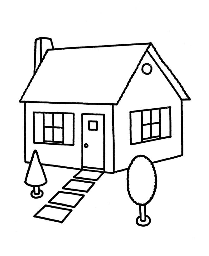 Homes coloring #19, Download drawings