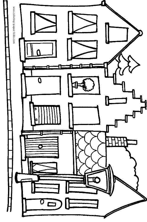 Homes coloring #9, Download drawings