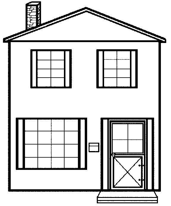 Homes coloring #17, Download drawings