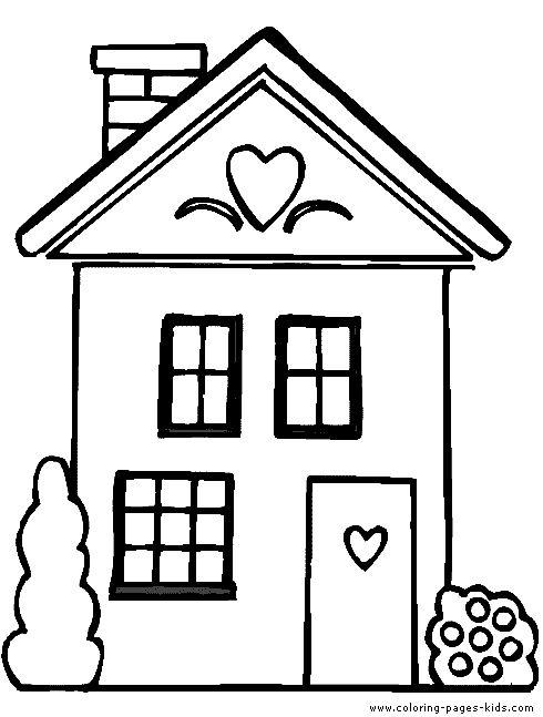 Homes coloring #5, Download drawings
