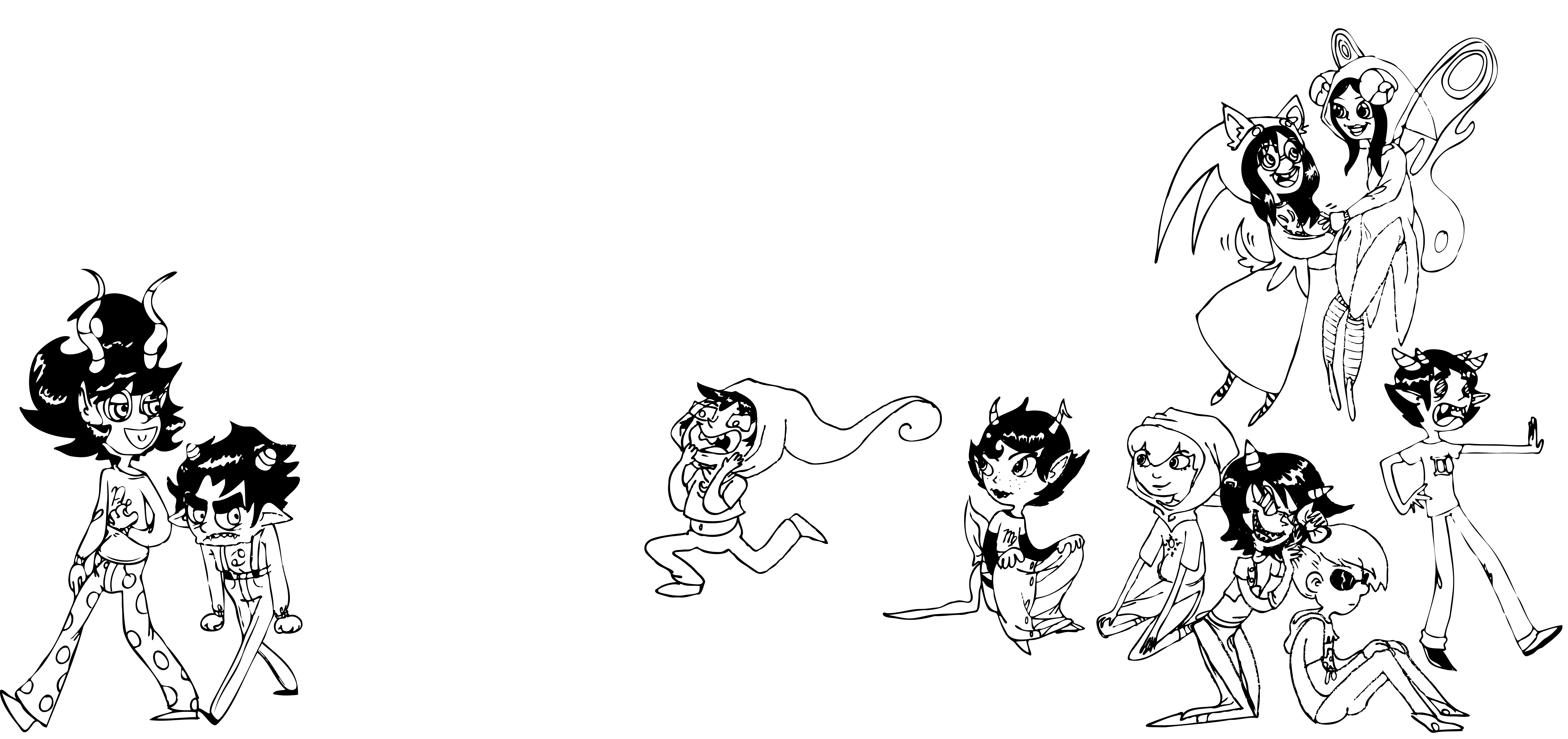 Homestuck coloring #1, Download drawings