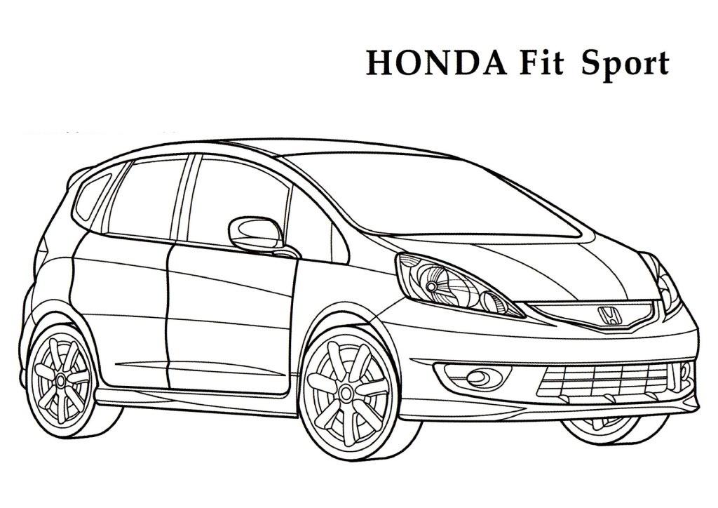 Honda coloring #3, Download drawings