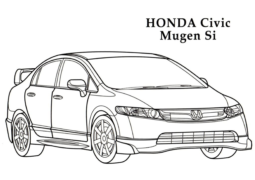 Honda coloring #1, Download drawings