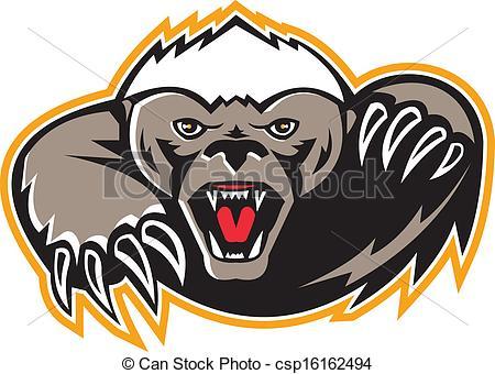Honey Badger clipart #18, Download drawings