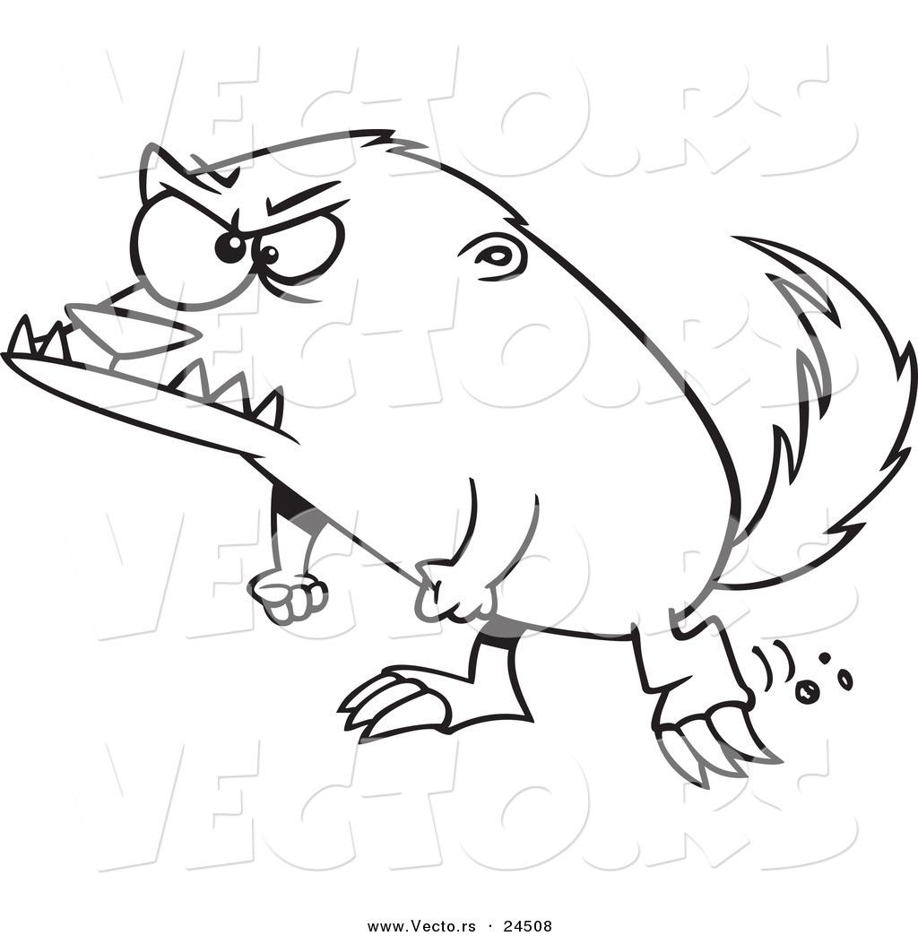 Honey Badger coloring #9, Download drawings