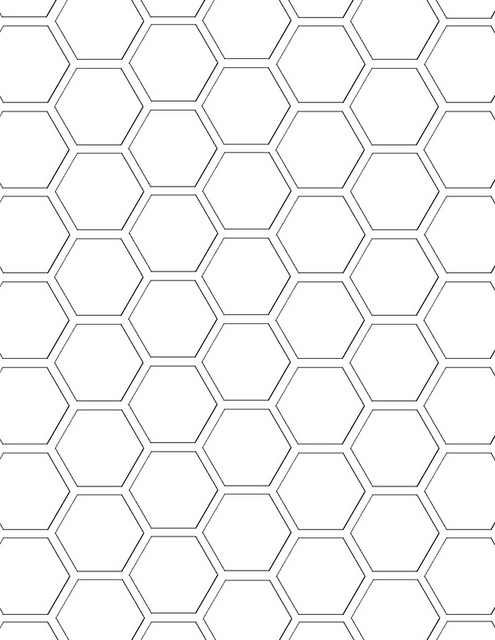Honeycomb coloring #3, Download drawings