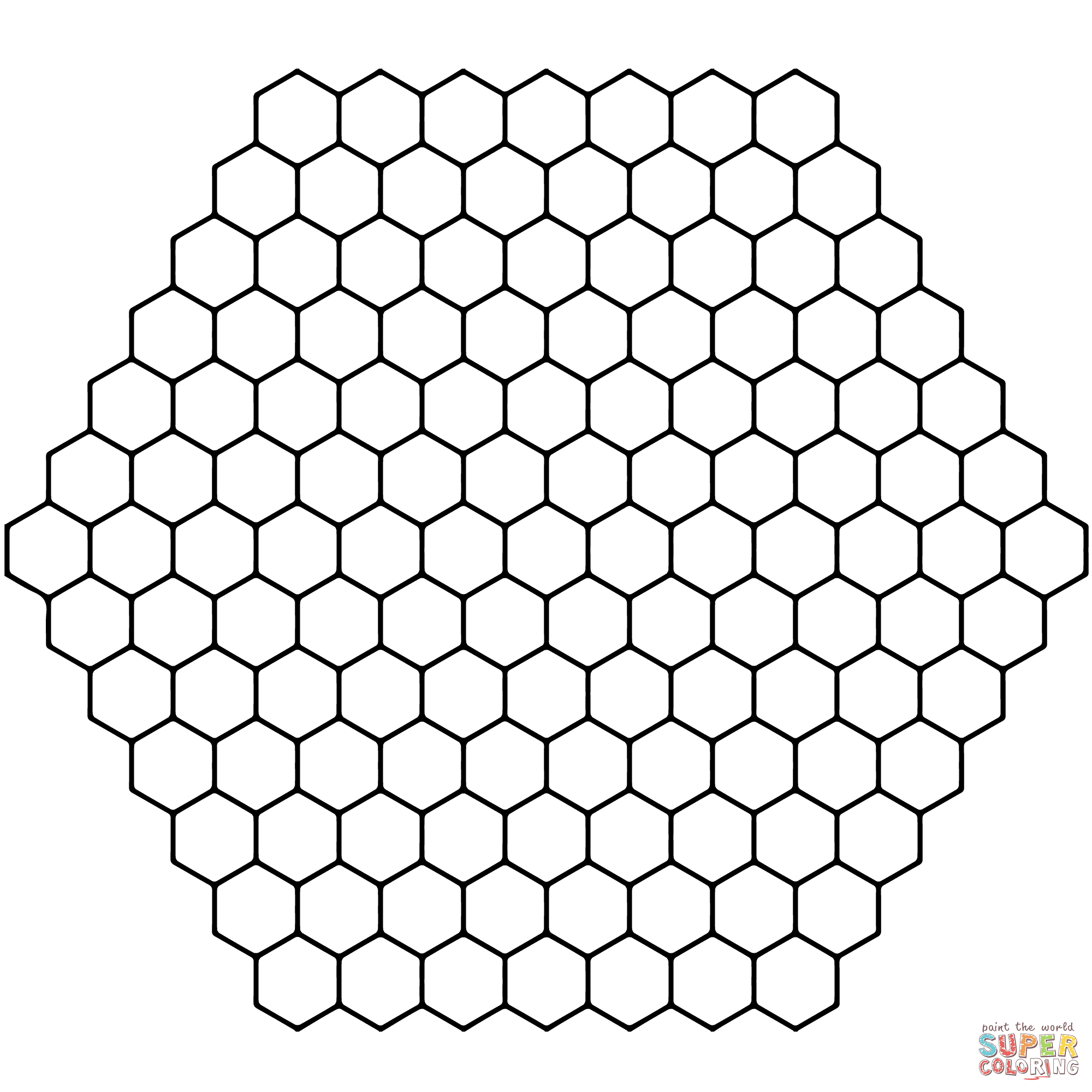 Honeycomb coloring #16, Download drawings