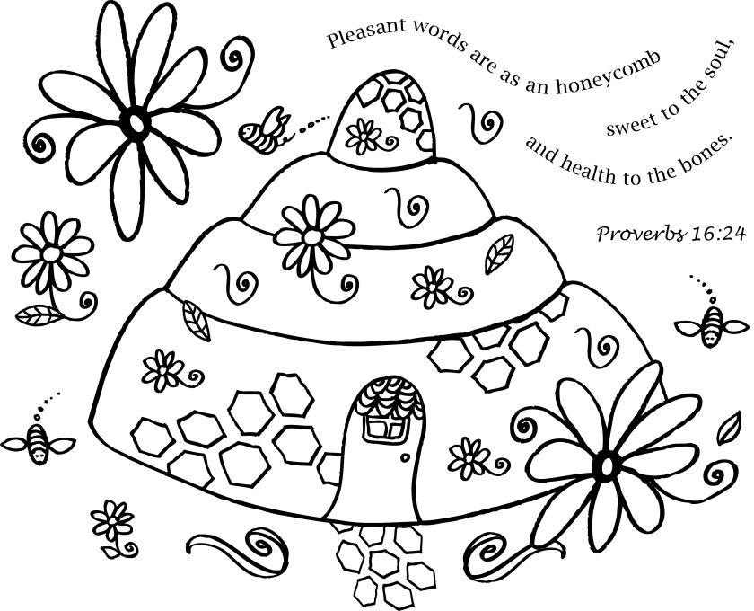 Honeycomb coloring #11, Download drawings