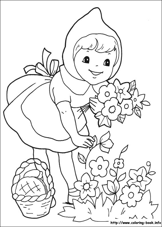 Red Riding Hood coloring #5, Download drawings