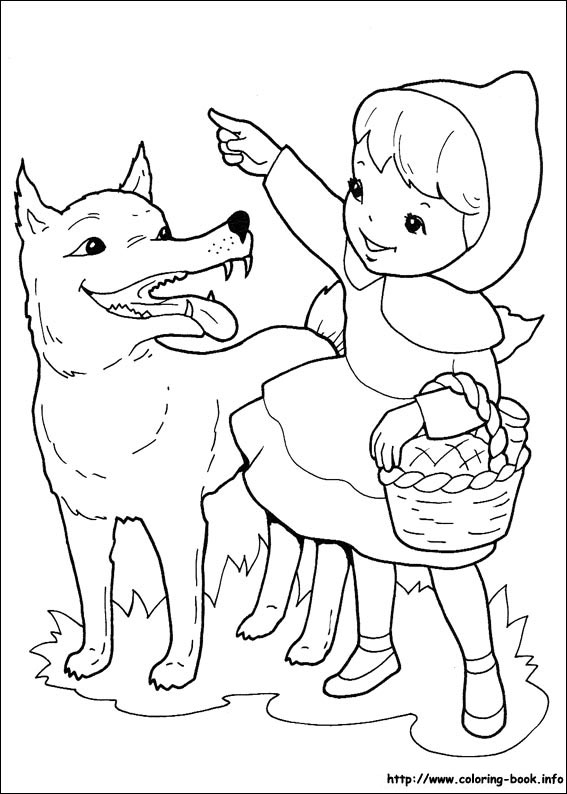 Red Riding Hood coloring #4, Download drawings