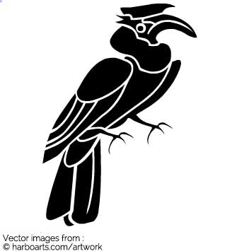 Hornbill clipart #1, Download drawings