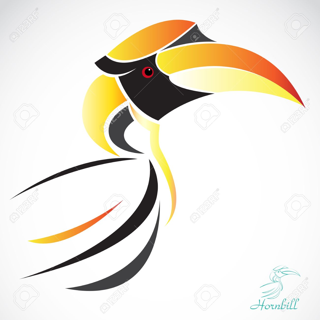 Hornbill clipart #12, Download drawings