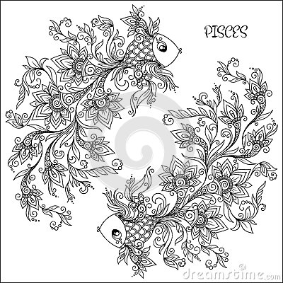 Pisces coloring #20, Download drawings