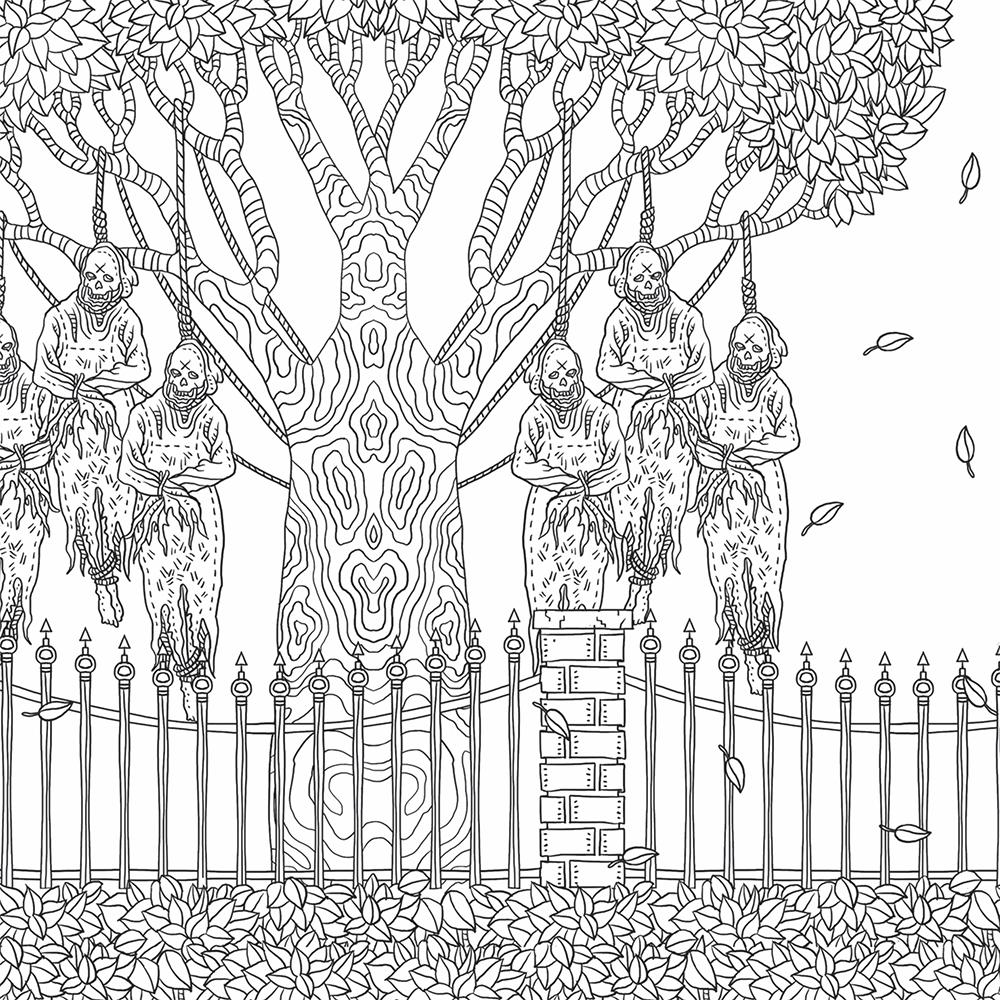 Horror coloring #2, Download drawings