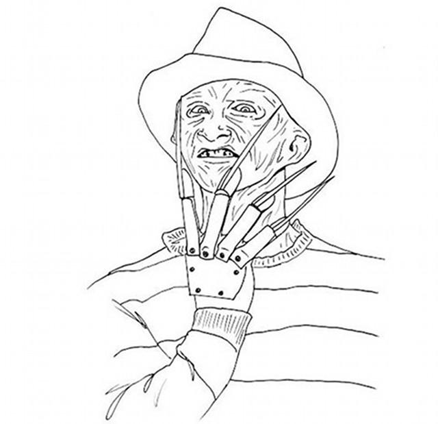 Horror coloring #8, Download drawings