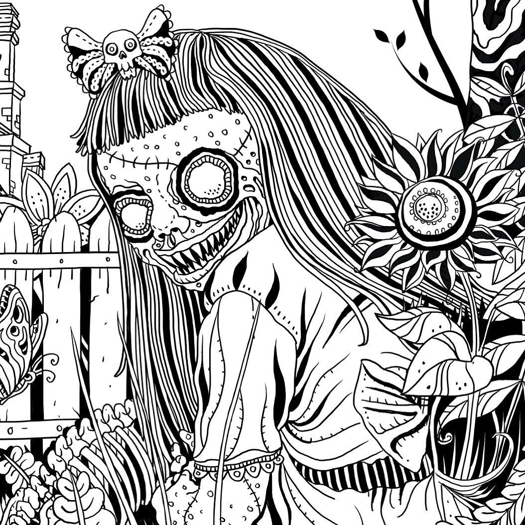 Horror coloring #3, Download drawings