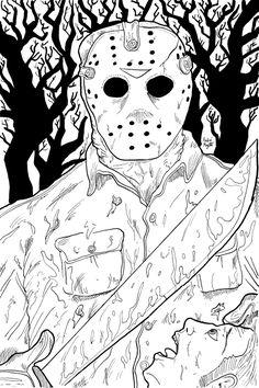 Horror coloring #19, Download drawings