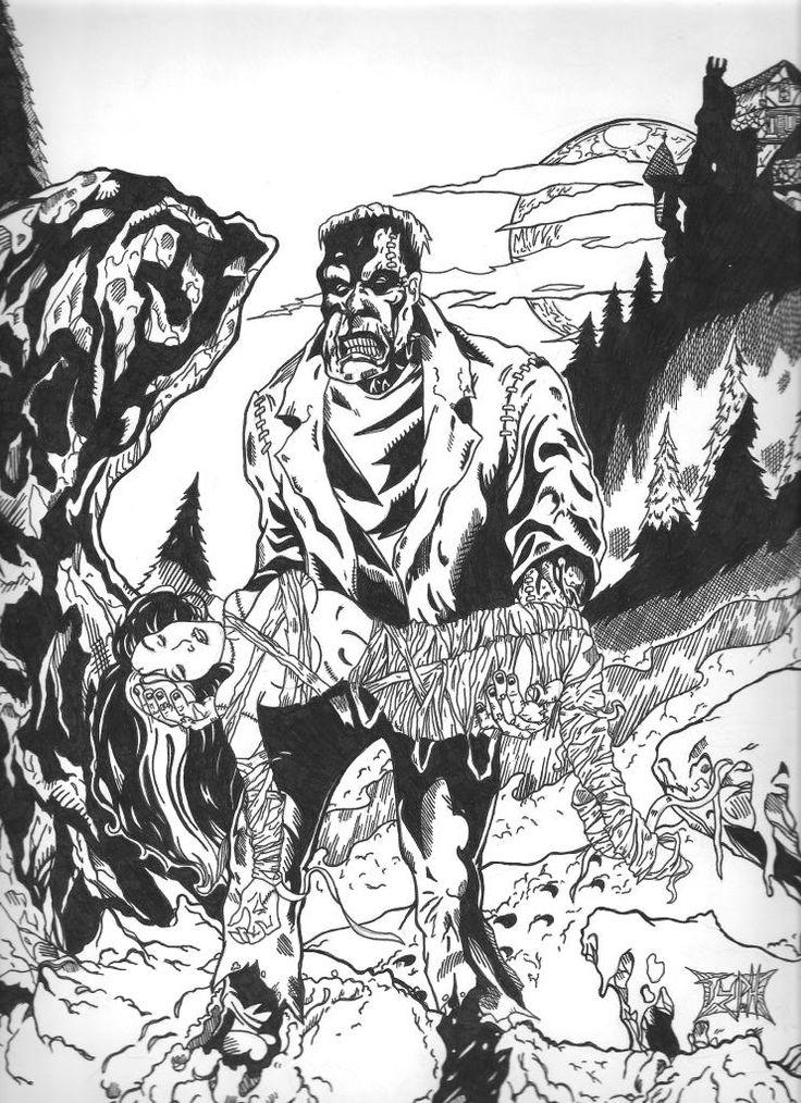 Horror coloring #13, Download drawings