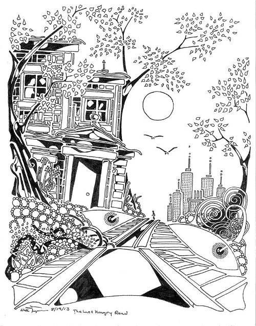 Horror coloring #16, Download drawings