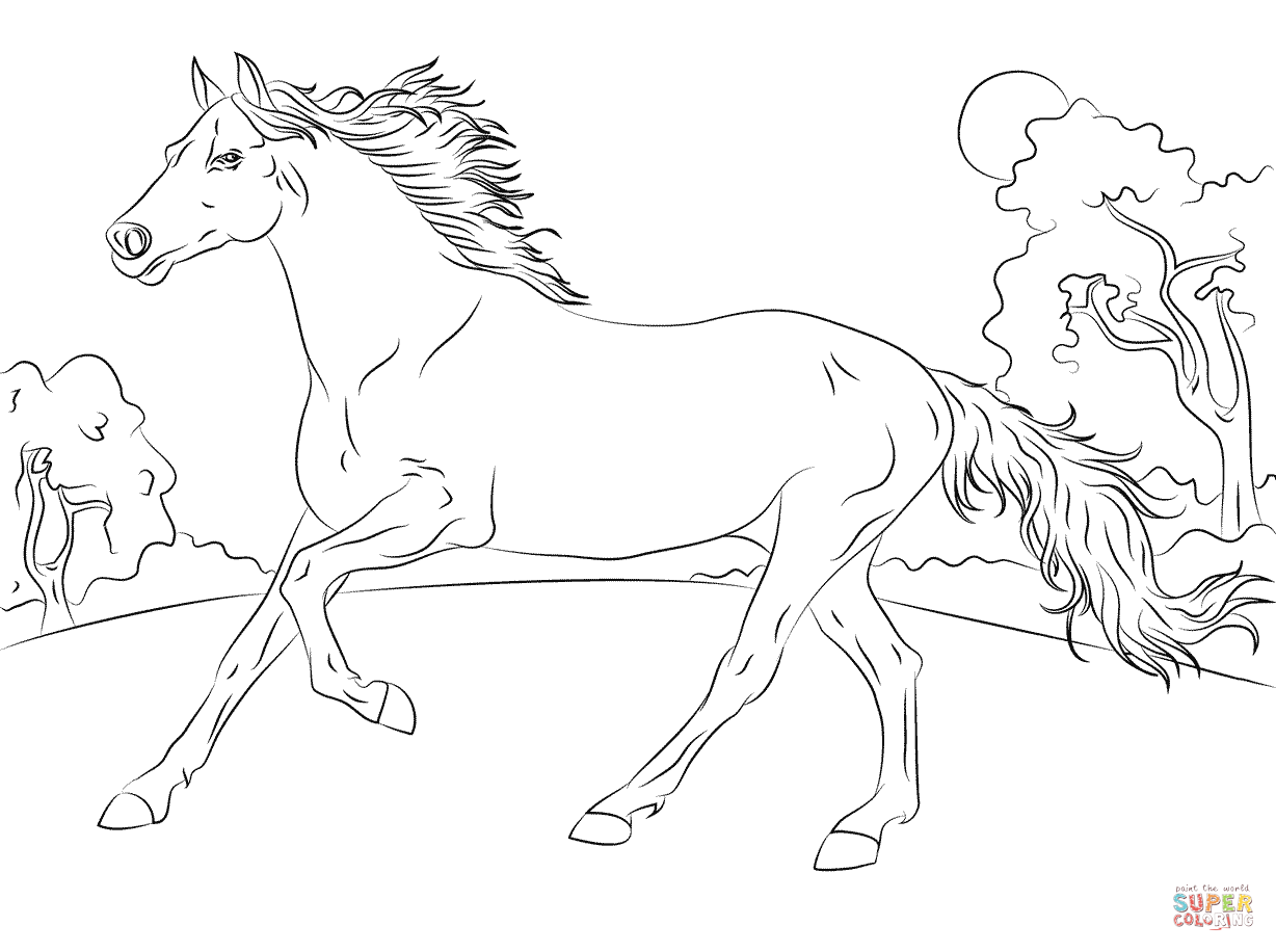 Stallion coloring #18, Download drawings