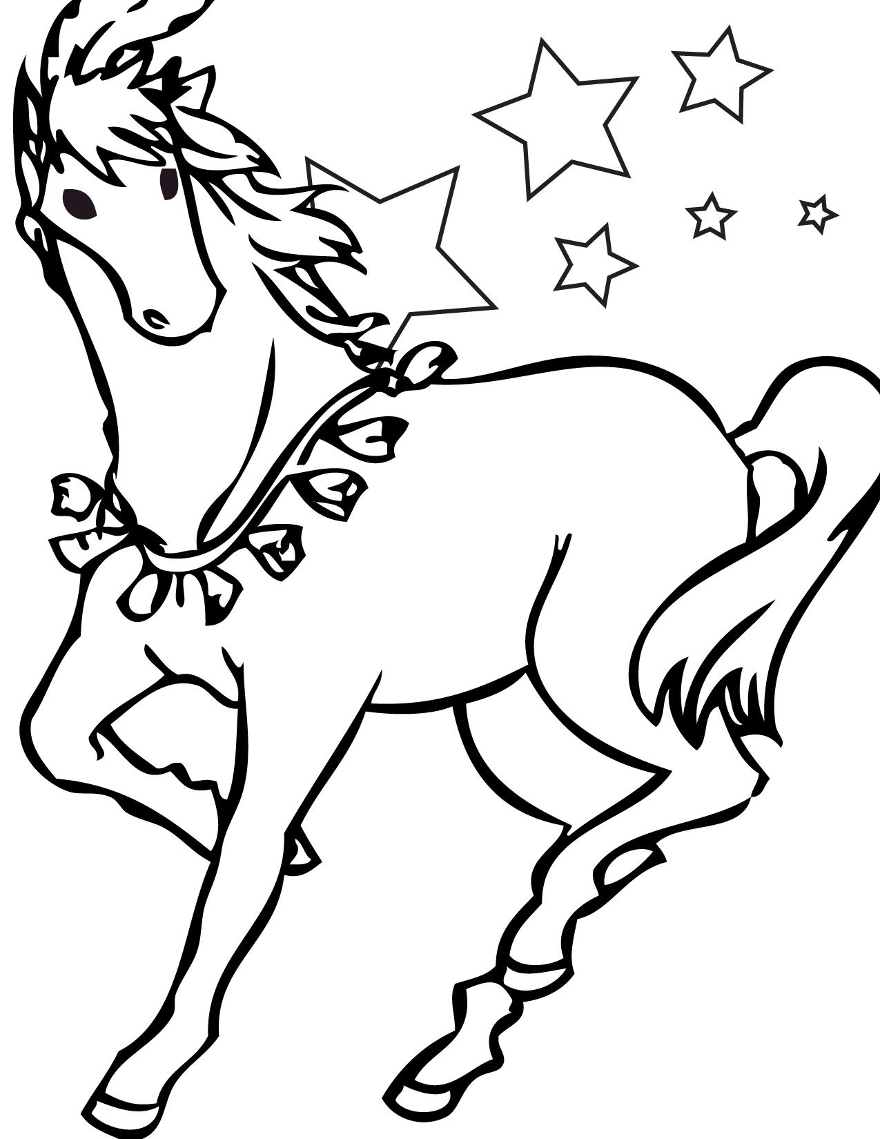 Horse coloring #5, Download drawings