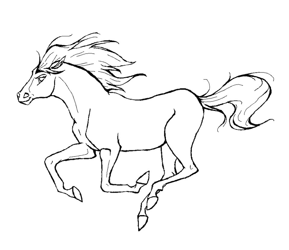 Horse coloring #19, Download drawings