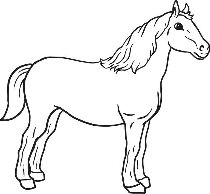 Horse coloring #3, Download drawings