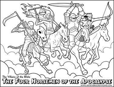 Horsemen coloring #5, Download drawings