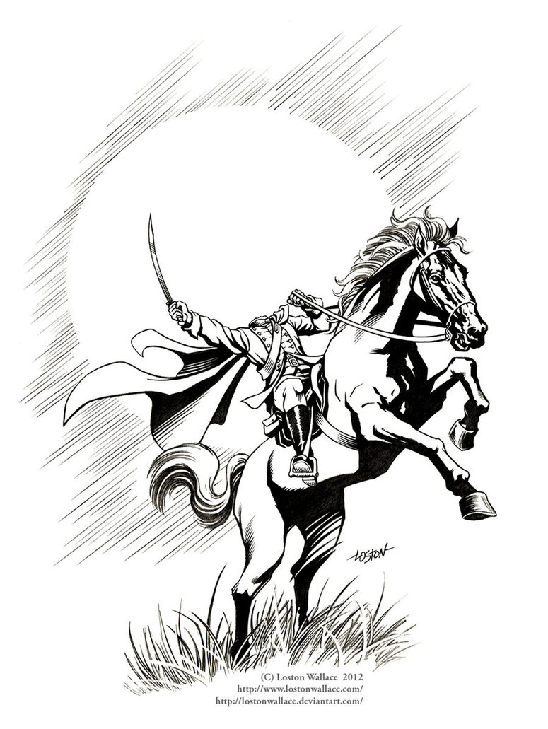 Horsemen coloring #6, Download drawings
