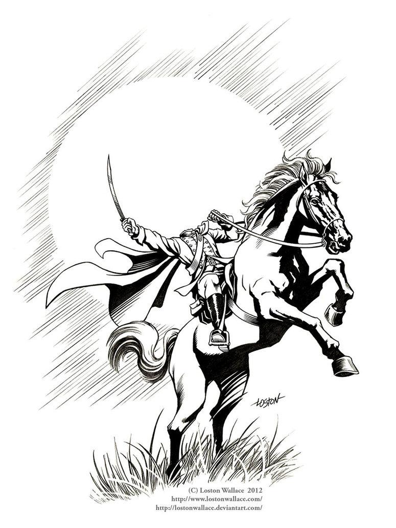 Horsemen coloring #15, Download drawings